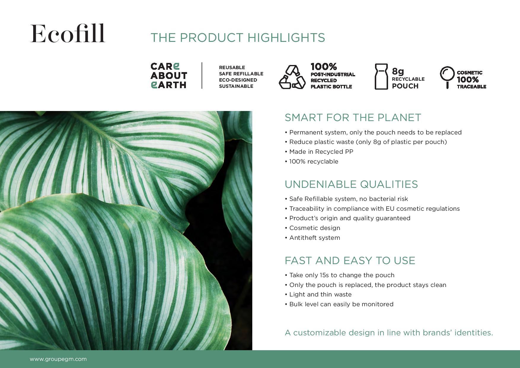 Ecofill zalety